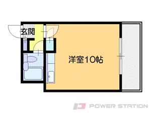 札幌市中央区南14条西1丁目0分譲リースマンション間取図面