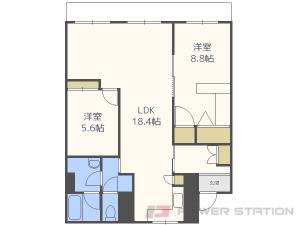 札幌市中央区南15条西1丁目0分譲リースマンション間取図面
