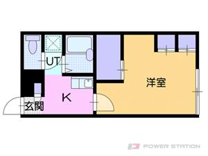 札幌市中央区南14条西19丁目0賃貸アパート間取図面
