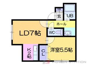 札幌市中央区南17条西12丁目0賃貸アパート間取図面