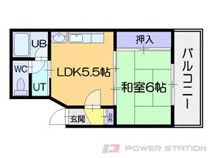 札幌市中央区南15条西9丁目1賃貸マンション間取図面