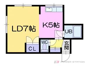 札幌市中央区南16条西10丁目0賃貸マンション間取図面