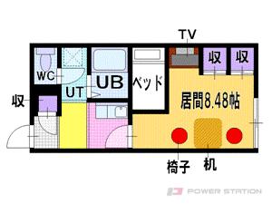 札幌市中央区南24条西14丁目0賃貸アパート間取図面