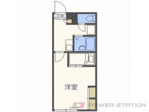 札幌市中央区南9条西8丁目0賃貸アパート間取図面