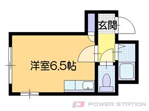 札幌市中央区南16条西6丁目1賃貸マンション間取図面