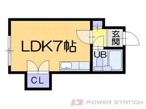 札幌市中央区南15条西5丁目0賃貸マンション間取図面