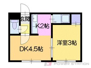 札幌市中央区南16条西5丁目0賃貸マンション間取図面