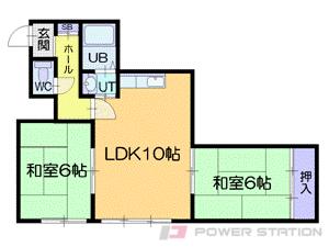 札幌市中央区南17条西6丁目0賃貸アパート間取図面