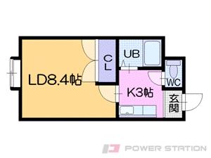 札幌市中央区南18条西15丁目0賃貸マンション間取図面