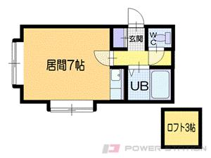 札幌市中央区南19条西15丁目0賃貸アパート間取図面