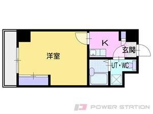 ロープウェイ入口1Kマンション図面