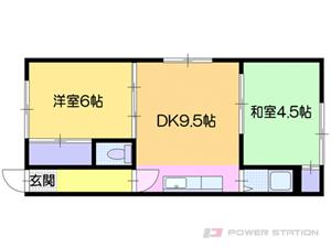 札幌市中央区南19条西14丁目0賃貸マンション間取図面
