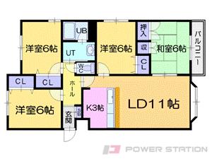 札幌市中央区南20条西14丁目0賃貸アパート間取図面