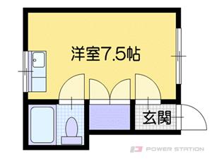 電車事業所前1Rアパート図面