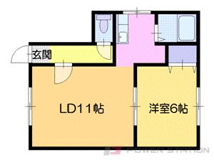 札幌市中央区南20条西7丁目0賃貸アパート間取図面