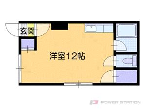 札幌市中央区南22条西9丁目0賃貸アパート間取図面