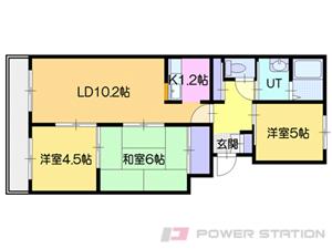 札幌市中央区南23条西8丁目1賃貸マンション間取図面