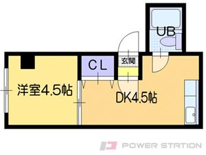 西28丁目1Rマンション図面