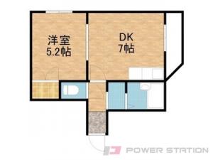 石山通1DKマンション図面