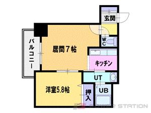 札幌市中央区南2条西8丁目0分譲リースマンション間取図面