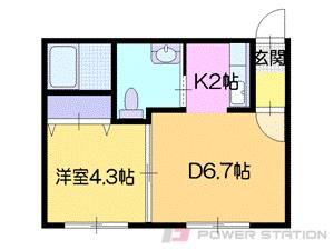 札幌市中央区北4条東2丁目0賃貸マンション間取図面