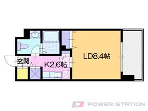 札幌市中央区北3条東3丁目0賃貸マンション間取図面