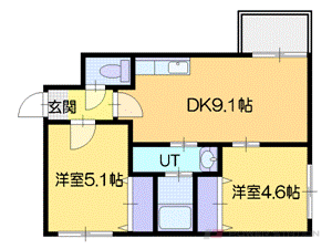 札幌市中央区北6条西20丁目0賃貸マンション間取図面