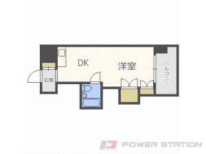 バスセンター前1DKマンション図面