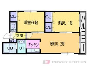 札幌市中央区大通西22丁目1分譲リースマンション間取図面