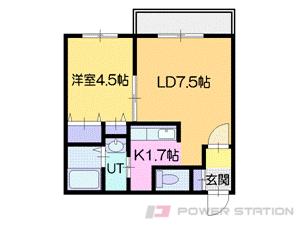 札幌市中央区北6条西23丁目0賃貸マンション間取図面