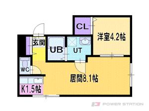 札幌市中央区大通西24丁目1分譲リースマンション間取図面