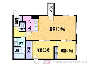 札幌市中央区南3条西25丁目0賃貸マンション間取図面