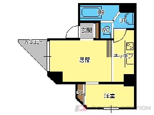 札幌市中央区宮の森1条5丁目0賃貸マンション間取図面