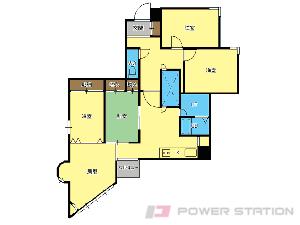 札幌市中央区宮の森3条8丁目1賃貸マンション間取図面