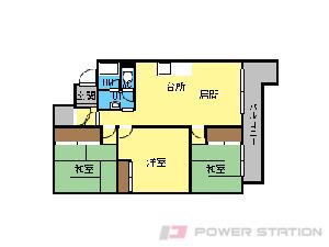 札幌市中央区南13条西21丁目1賃貸マンション間取図面