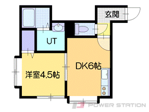 札幌市中央区南19条西16丁目0賃貸アパート間取図面