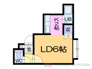 東屯田通1Kアパート図面