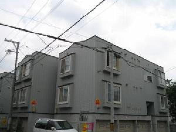 石山通1Kアパート外観