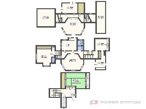 札幌市中央区宮の森4条13丁目0一戸建貸家間取図面