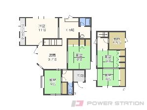 札幌市中央区宮の森3条8丁目0一戸建貸家間取図面