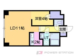 札幌市中央区南11条西10丁目1賃貸マンション間取図面