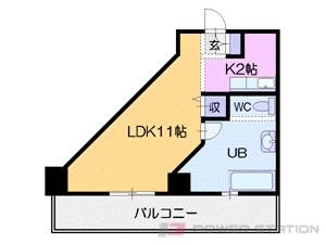 札幌市中央区南6条西2丁目1賃貸マンション間取図面
