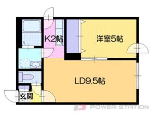 札幌市中央区南6条西23丁目0賃貸マンション間取図面