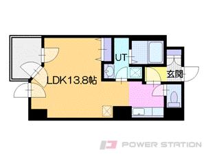 豊水すすきの1Rマンション図面