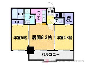 札幌市中央区北6条西16丁目1賃貸マンション間取図面