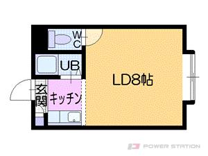 札幌市中央区南5条西27丁目0賃貸アパート間取図面