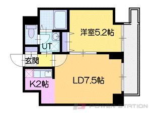 札幌市中央区南5条西10丁目0賃貸マンション間取図面
