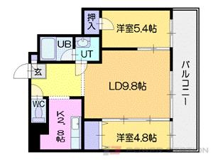 札幌市中央区南5条西1丁目1賃貸マンション間取図面