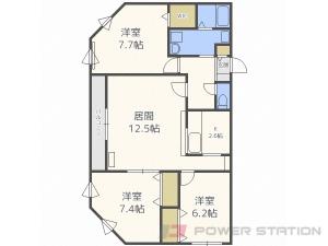 円山公園3LDKマンション図面