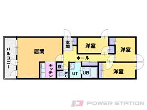 西線14条4LDKマンション図面